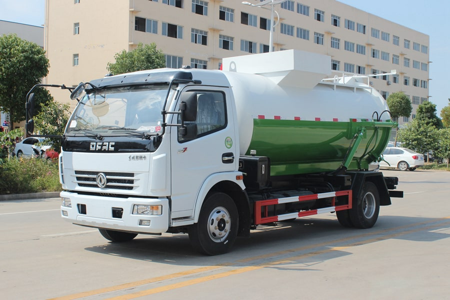 东风D7餐厨式垃圾车(左前侧图片)