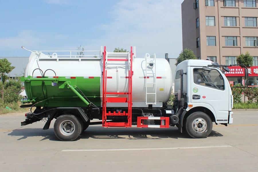 东风D7餐厨式垃圾车(右侧图片)