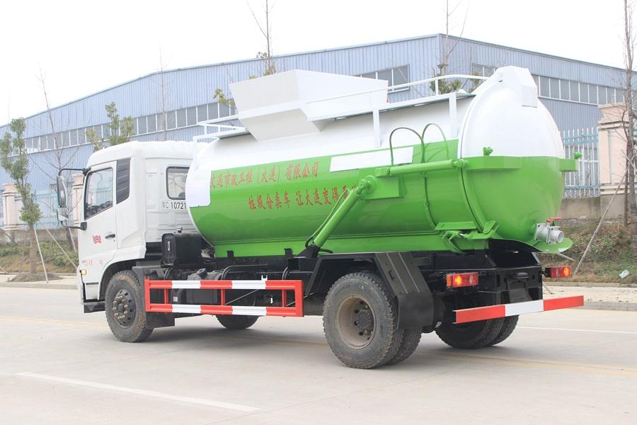 东风天锦餐厨式垃圾车左后侧图片