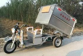 不锈钢电动三轮保洁车价格-图片-视频