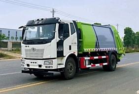 国六解放压缩垃圾车