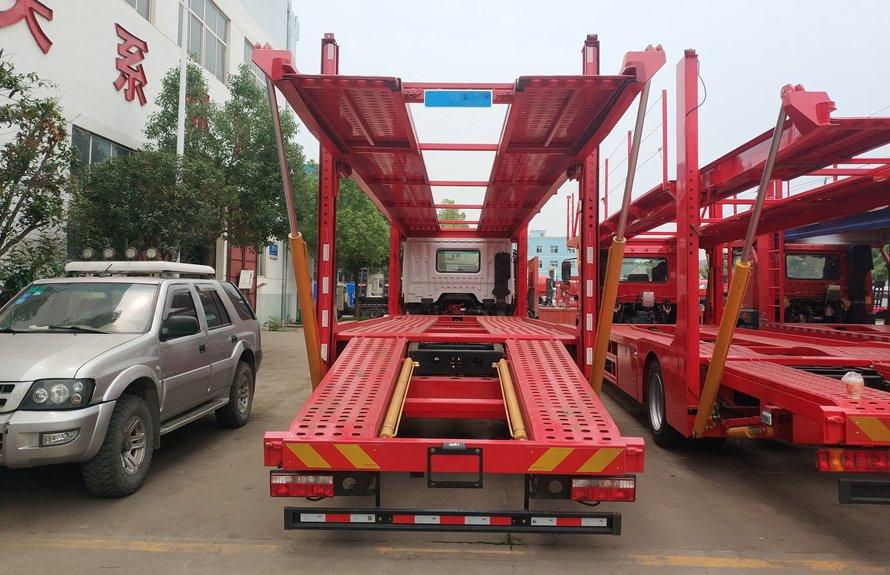 东风D9单桥五位轿运车辆运输车正后