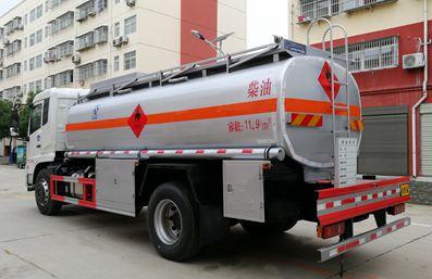 东风天锦15吨油罐车右后侧图片