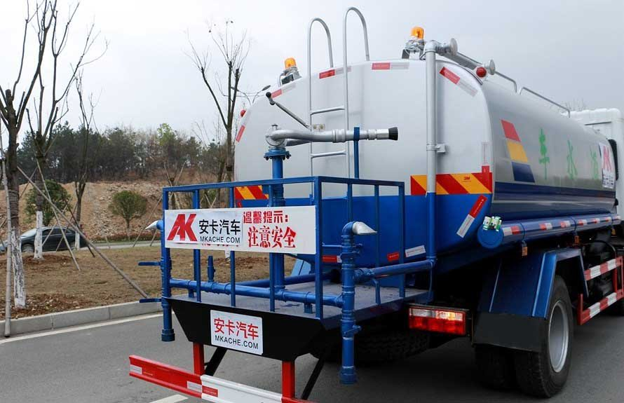 东风专底12吨洒水车后工作平台