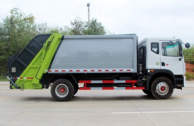 东风12方压缩式垃圾车图片(右侧)